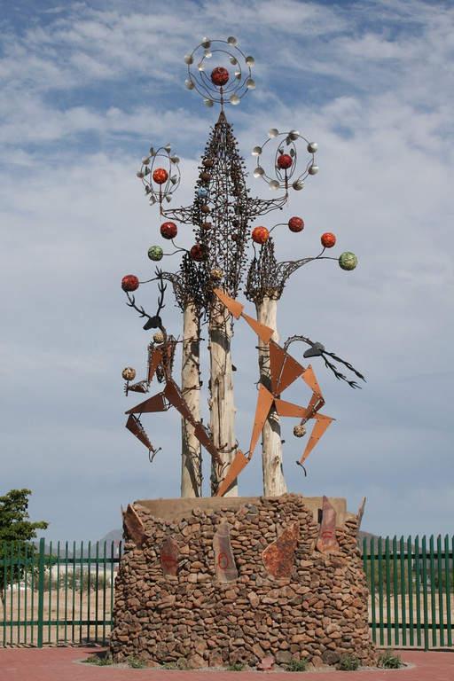 Una escultura en Hermosillo