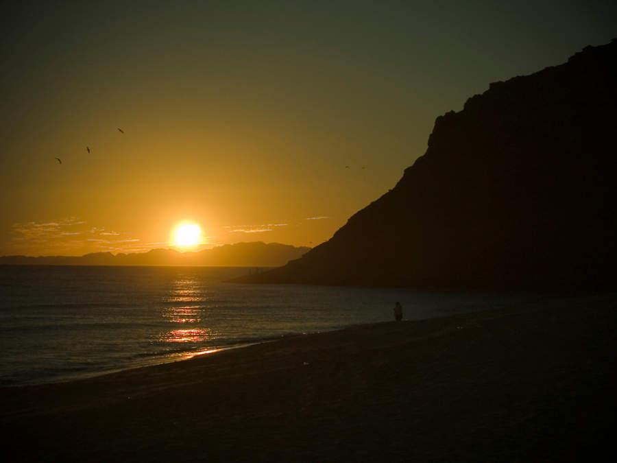 Puesta de Sol en bahía de Kino
