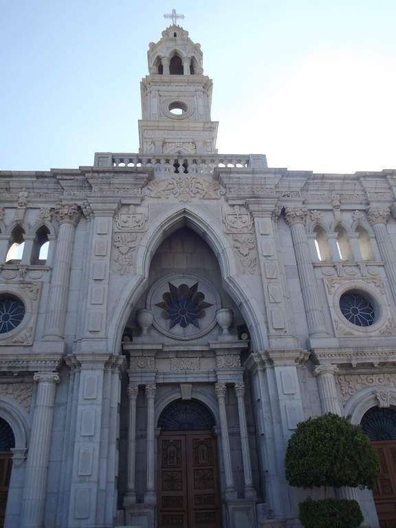 <p>Facade of the Parish of Our Lady of Carmen in Hermosillo</p>