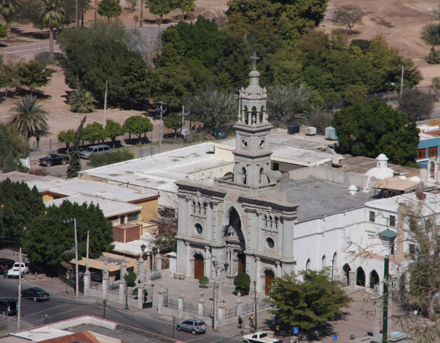 <p>Aerial view of Parish of Our Lady of Carmen in Hermosillo</p>