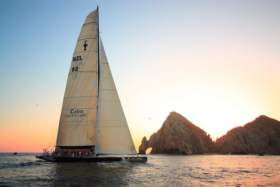 <p>Catamaran ride in Los Cabos Tourist Corridor</p>