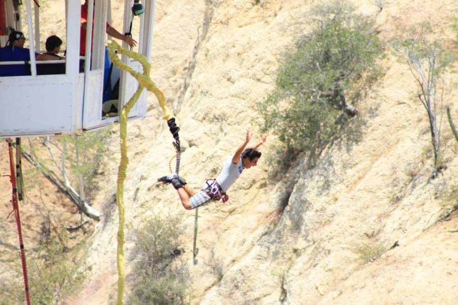 <p>Dare to experience a bungee jump at Wild Canyon Park</p>