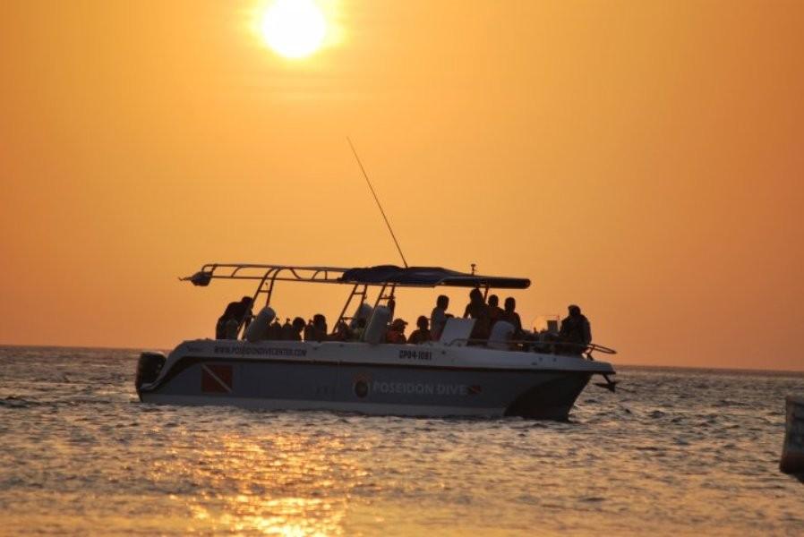 Atardecer en la bahía de Taganga