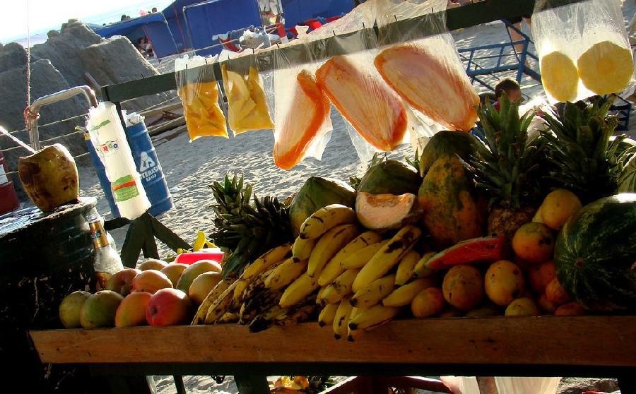 Puesto de fruta fresca