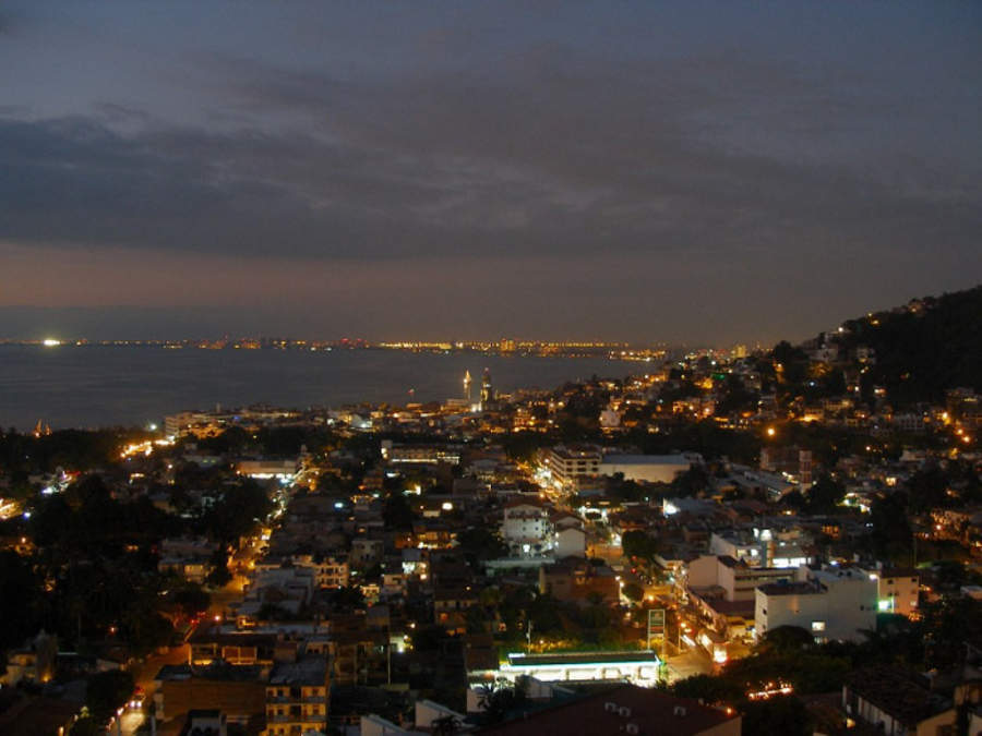 <p>Night view of Puerto Vallarta</p>
