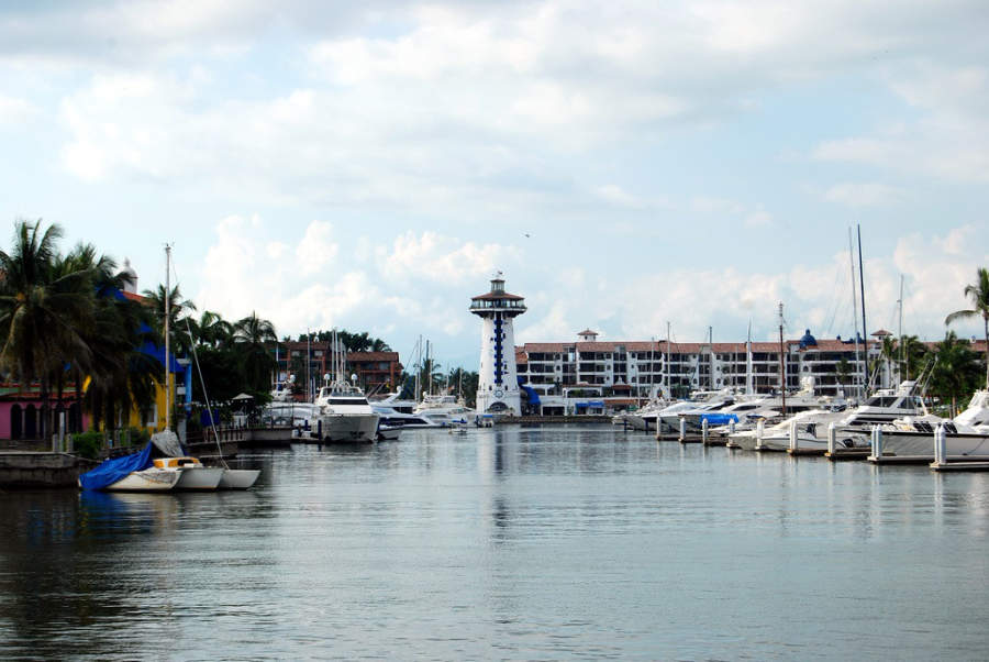 <p>The port at the tourist destination of Puerto Vallarta</p>