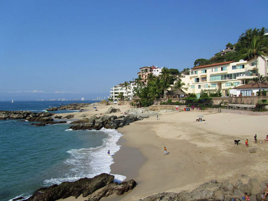 <p>Conchas Chinas Beach in Puerto Vallarta</p>