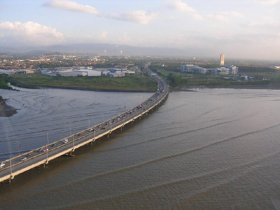 Vista aérea de la zona sur, ciudad de Panamá