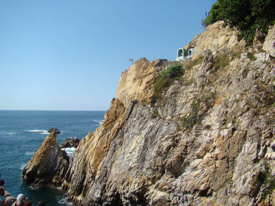<p>The famous Quebrada Cliff in Acapulco</p>