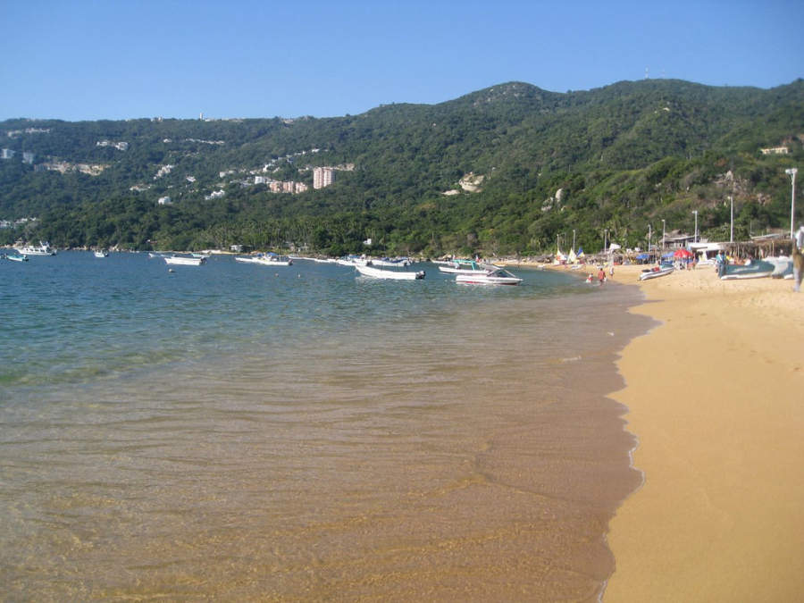 <p>Puerto Marqués Beach, located south of the city</p>