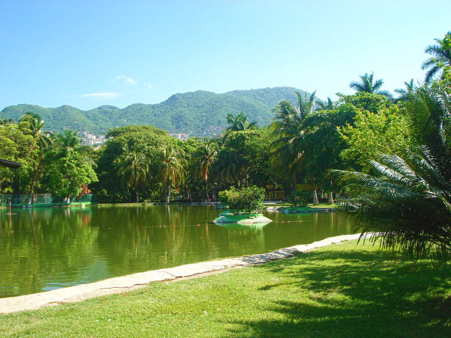 <p>Artificial lake in the Papagayo Park in Acapulco</p>