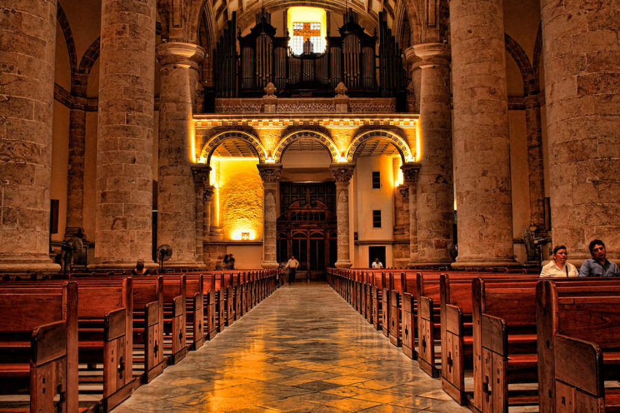 <p>Interior of theCathedral of Merida</p>