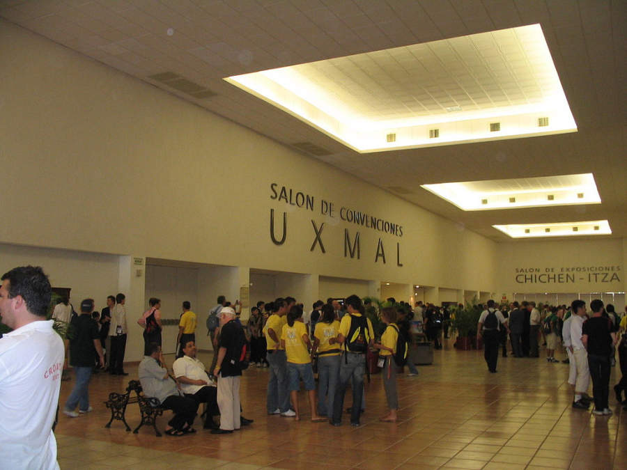 <p>Lobby of the Yucatan Siglo XXI Convention Centre</p>