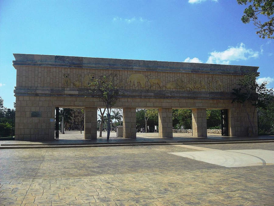 <p>Entrance to Bicentenario Animaya Zoo Park</p>