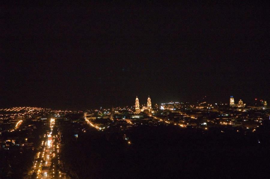 <p>Morelia at night</p>
