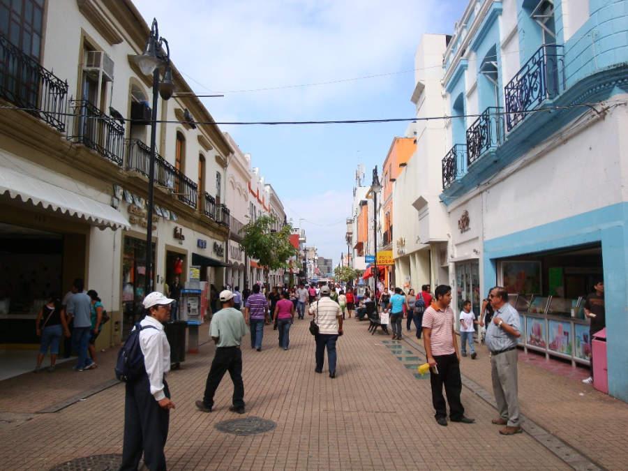 <p>Juárez street in the area of Zona Luz, Villahermosa</p>