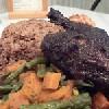Pollo en jerk,Negril, Jamaica, Jamaica