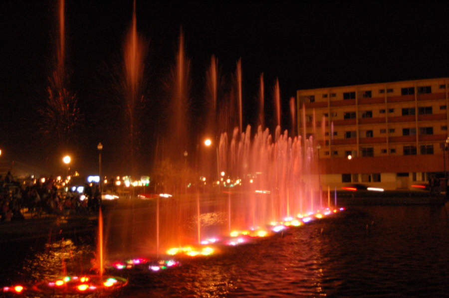 <p>The dancing fountains in the city of Chihuahua</p>