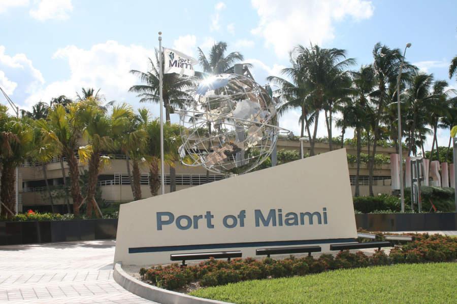 <p>El Puerto de Miami es uno de los más importantes en el mundo</p>