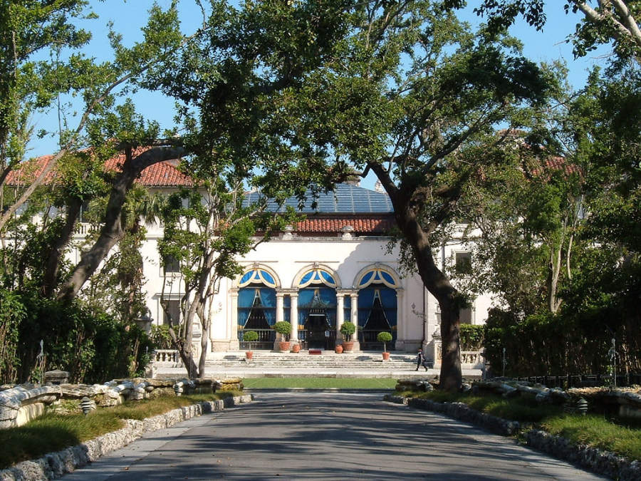 <p>Villa Vizcaya en el distrito Coconut Grove en Miami</p>
