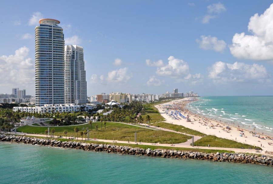 <p>Playa de South Beach en Miami</p>