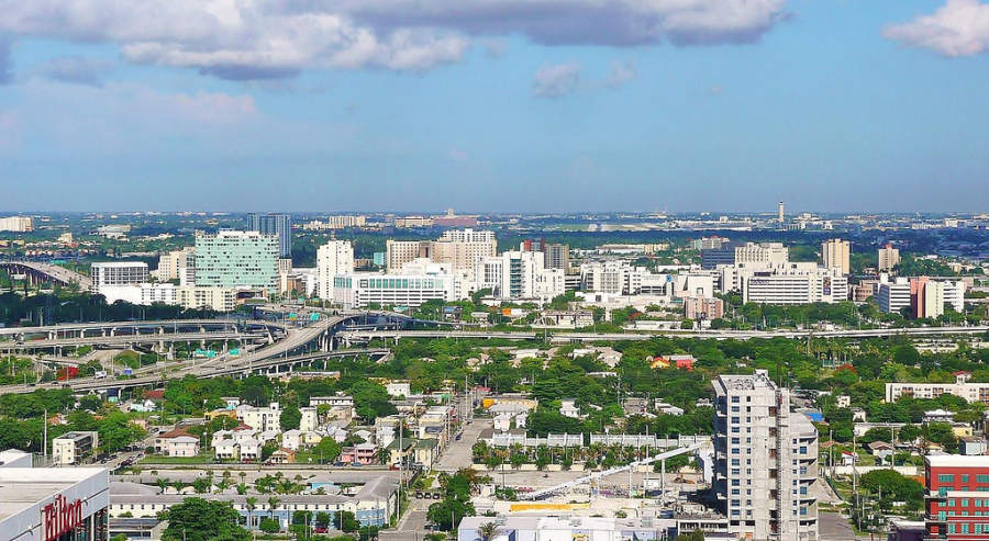 <p>Vista panorámica de la ciudad de Miami, Florida</p>