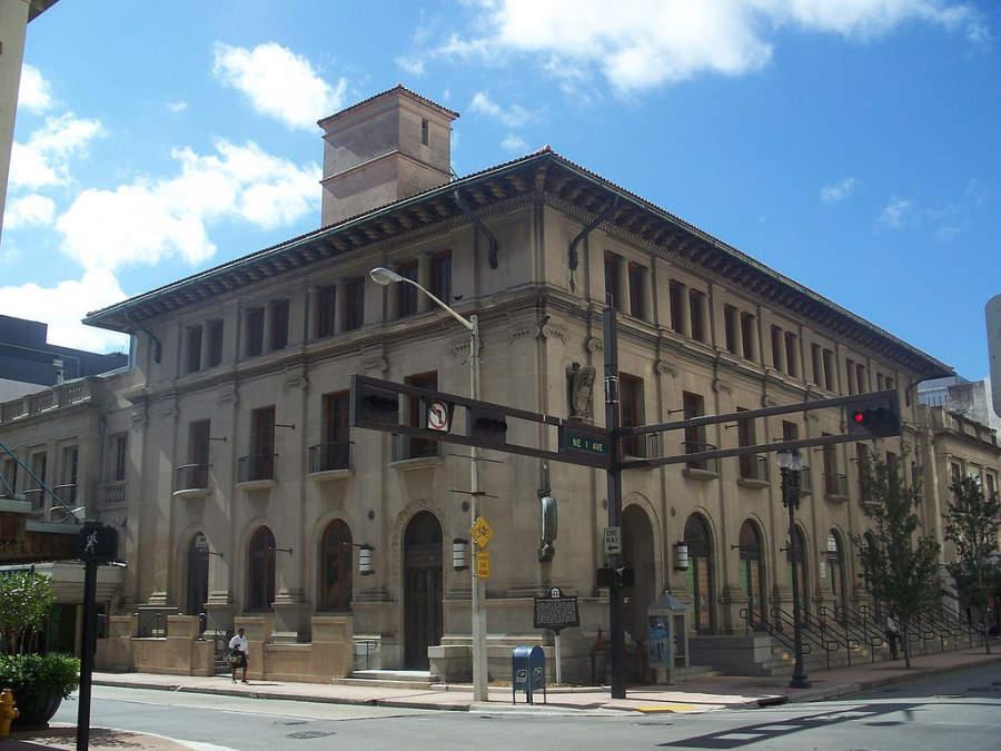 <p>Antiguas oficinas de correo en la zona de Coconut Grove en Miami</p>