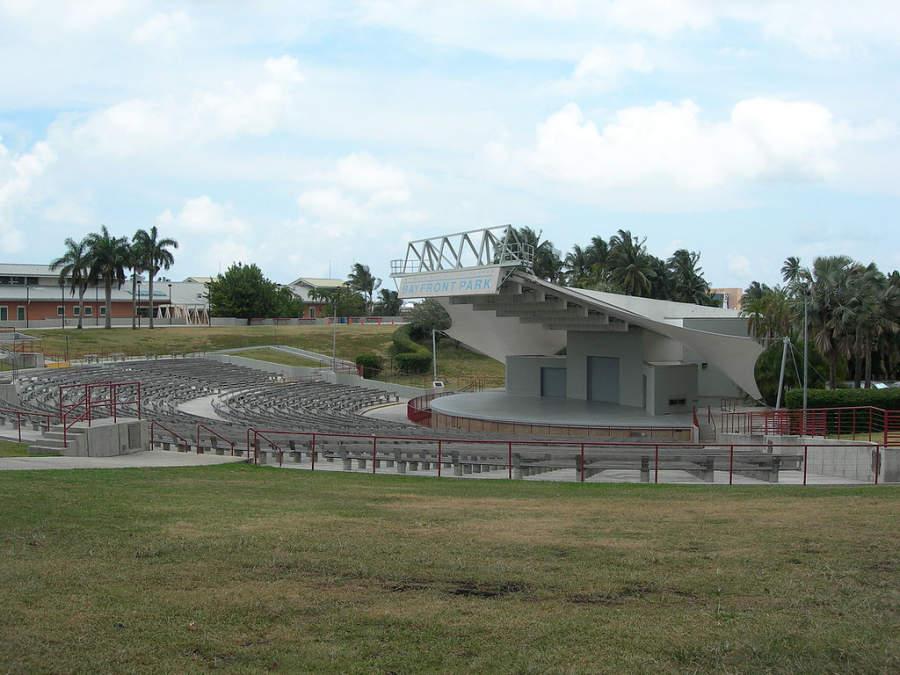<p>Anfiteatro en el parque Bayfront en Miami</p>