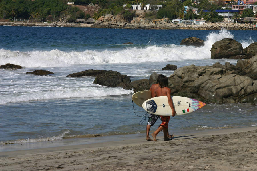 <p>Surf is one of the main water activities in Puerto Escondido</p>
