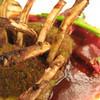 Hot Smoked Niman Ranch Lamb with Fuji Apple an Curry Dressing,Orlando, Florida, United States