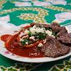 Enchiladas con cecina,Salamanca, Mexico
