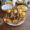 Souvlaki pita,Spata, Greece