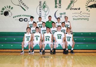 2015 Boys Freshman Basketball team photo