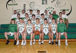 2019 Boys Varsity Basketball team photo