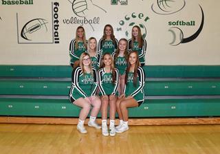 2019 Girls Varsity Cheer team photo