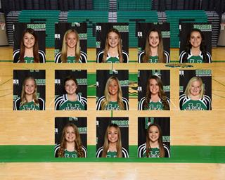 2020 girls varsity cheer team photo