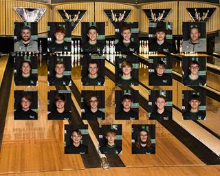 2020 boys varsity bowling team photo
