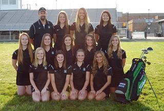 2015 Girls Varsity Golf team photo
