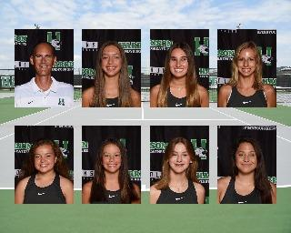 2020 girls varsity tennis team photo