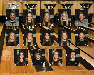2020 girls varsity bowling team photo