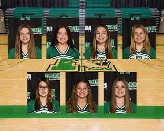 2020 Girls Freshman Cheer team photo