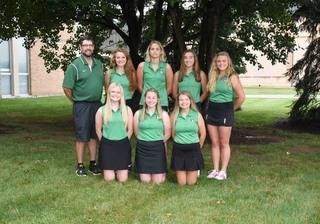 2018 Girls Varsity Golf team photo