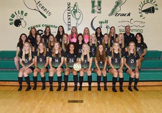 2021 Girls Varsity Soccer team photo