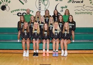 2021 girls varsity volleyball team photo