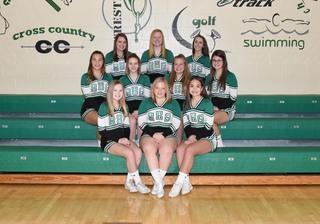 2017 Girls Junior_Varsity Cheer team photo