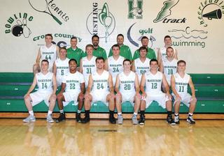 2015 Boys varsity basketball team photo