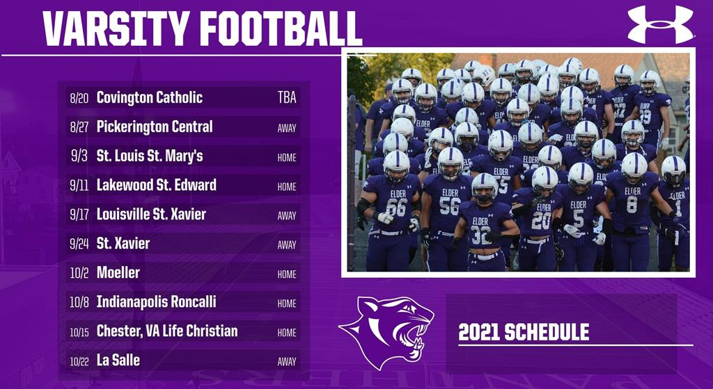 2021 Elder Varsity Football Schedule