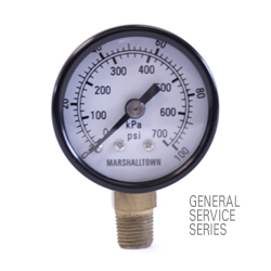 "Marsh General Service Pressure Gauge 1.5"", 160 PSI/KPa"