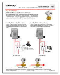 5618 Electric Actuator On-Off Function (AC Voltage)
