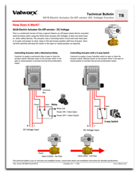 5618 Electric Actuator On-Off Function (DC Voltage)